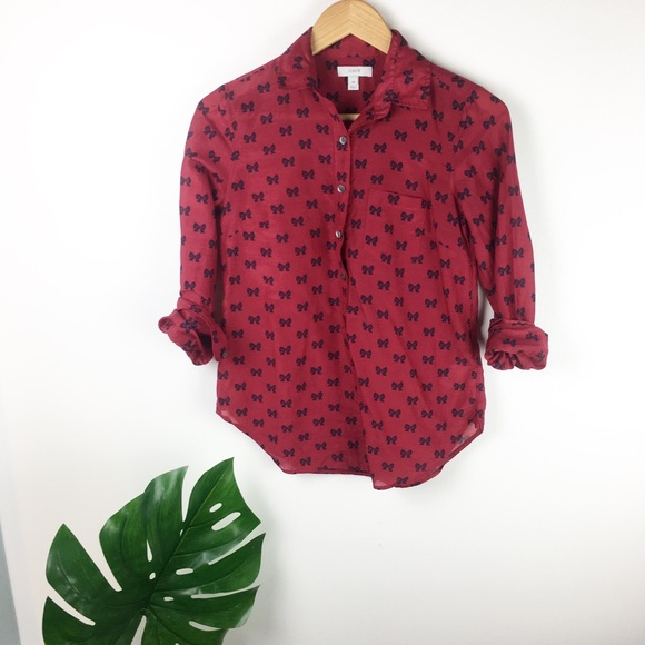 J. Crew Tops - J.Crew | Bow Button Down